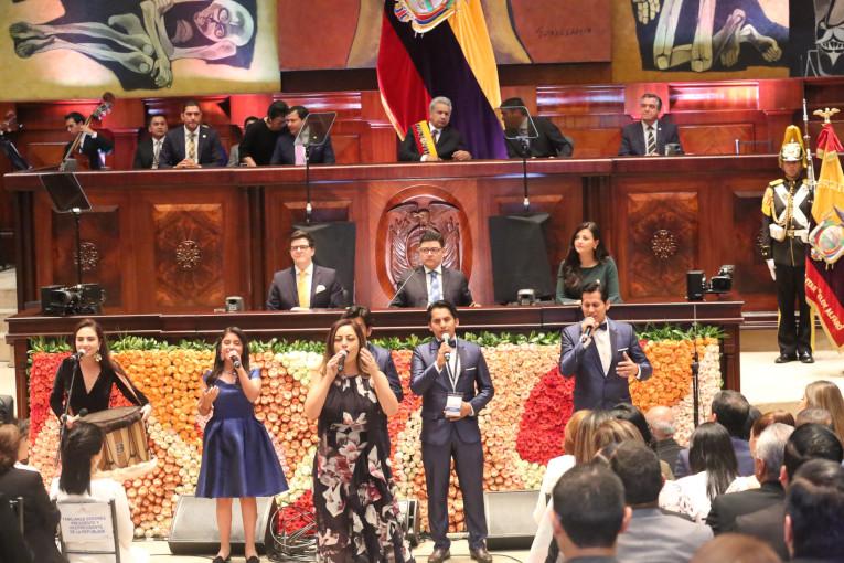 El presidente Lenín Moreno durante el informe a la nación del 24 de mayo de 2019.