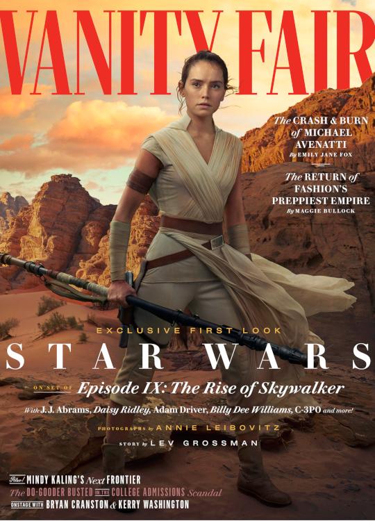 Opción 1 de portada para la edición de Vanity Fair. Fotografía de Annie Leivobitz