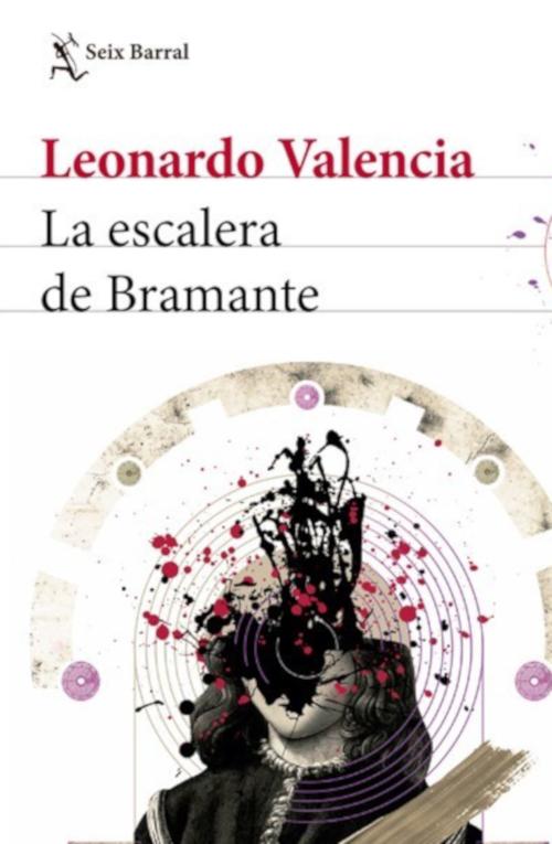 Detalle de portada de La escalera de Bramante, de Leonardo Valencia.