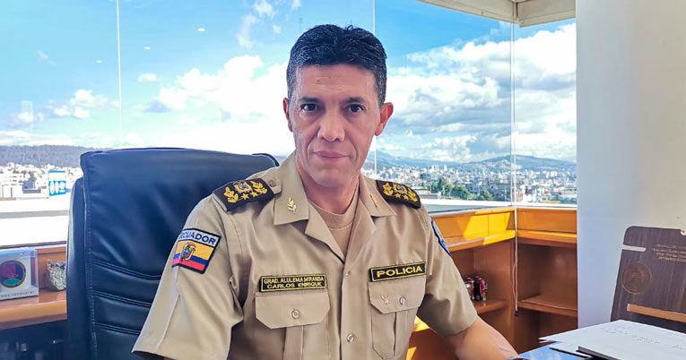 El general Carlos Alulema explica la situación en La Merced de Buenos Aires.