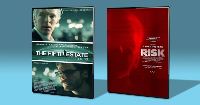 Portadas de películas sobre Julian Assange.