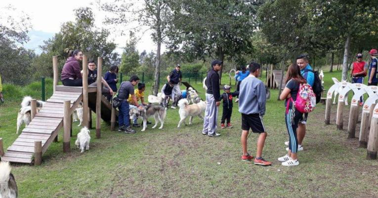 El parque de la Armenia, suroriente de Quito, es amigable con los amigables.