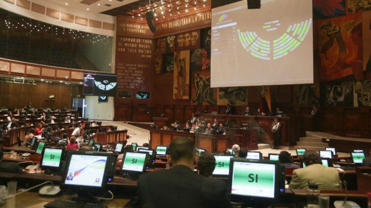 El Pleno de la Asamblea Nacional durante una votación.