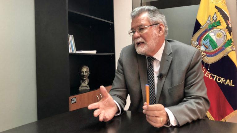 El vicepresidente del Consejo Nacional Electoral, Enrique Pita.
