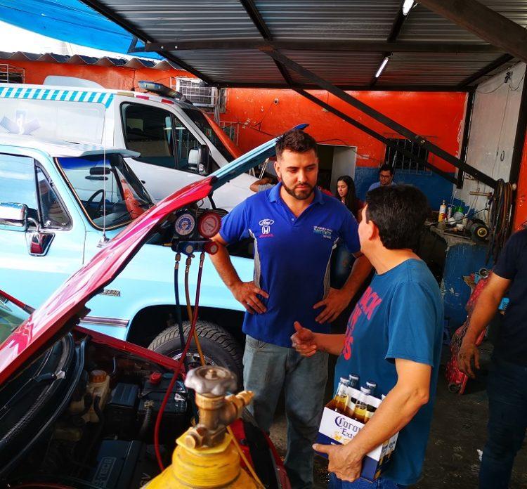 Luis Alfredo Moronta llegó desde Caracas hace tres años. Al mes envía USD 300 a sus padres.