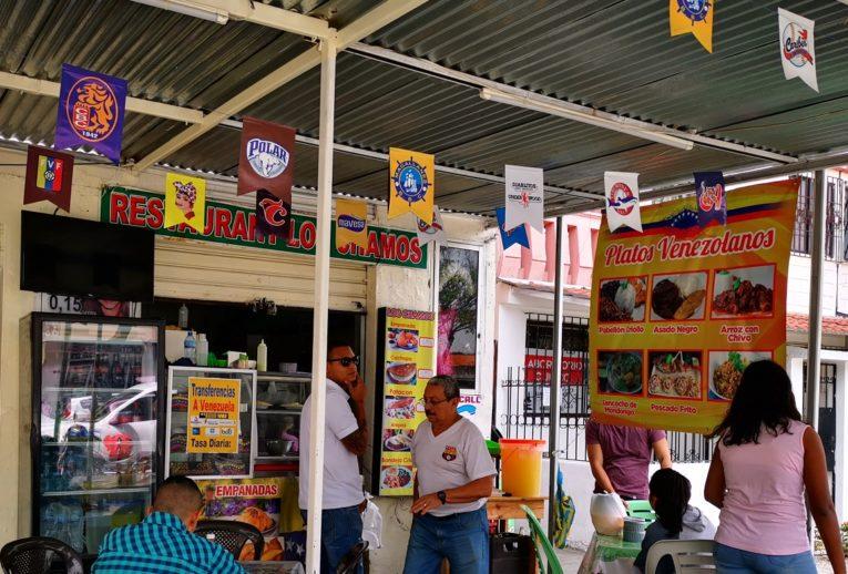 Un poco de comida venezolana en Guayaquil. El restaurante de Roberto Mera ofrece almuerzos por USD 2,50.
