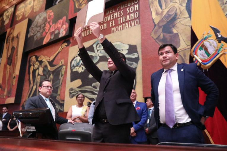 José Tuárez fue posesionado, ayer 13 de junio de 2019, como vocal del Consejo de Participación.