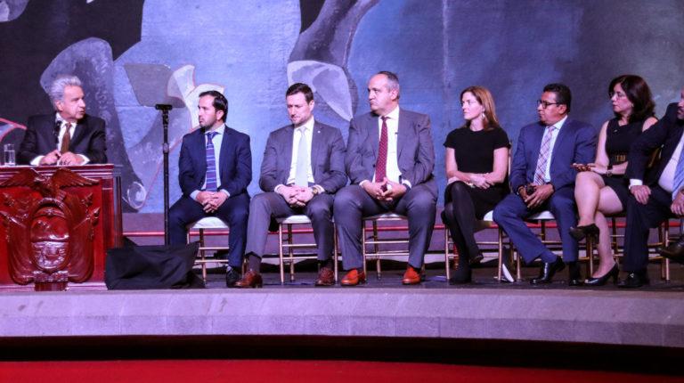 El presidente Lenín Moreno presidió el acto de creación de la Comisión de Expertos Internacionales de Lucha Contra la Corrupción en Ecuador, el 19 de mayo de 2019.