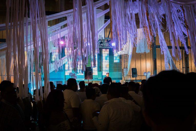 Una de las recientes fiestas privadas de la comunidad GLBTI fue en el Centro de Convenciones de Guayaquil.