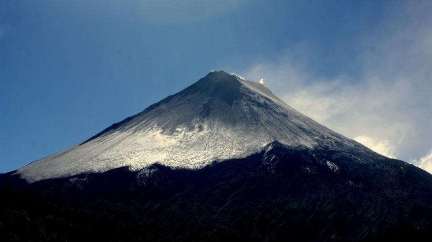 Imagen de archivo del flanco occidental del volcán Sangay, tomada en el año 2011.