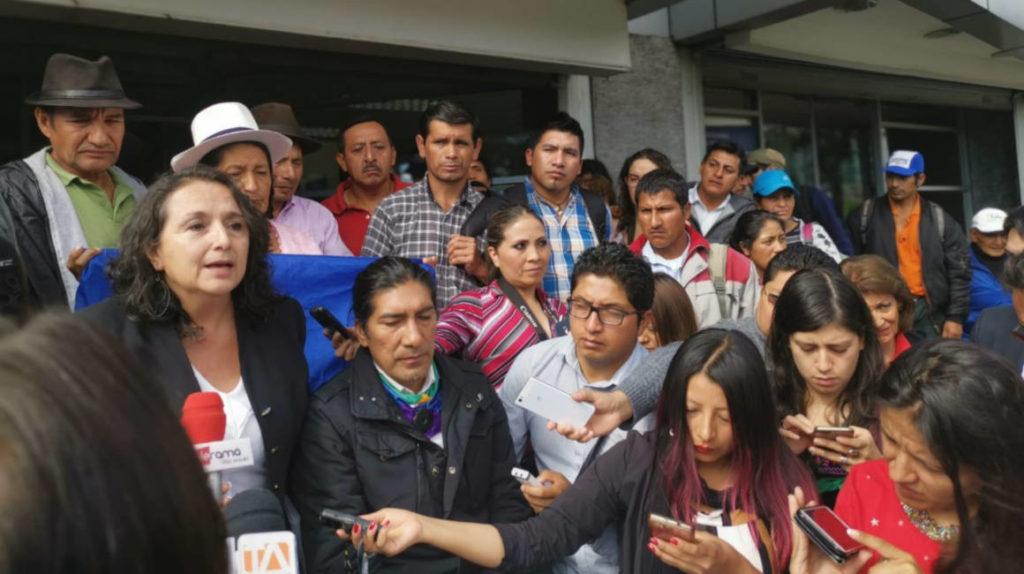Yaku Pérez presiona en la Corte Constitucional el mismo día de la audiencia que busca frenar minería en Imbabura y Carchi