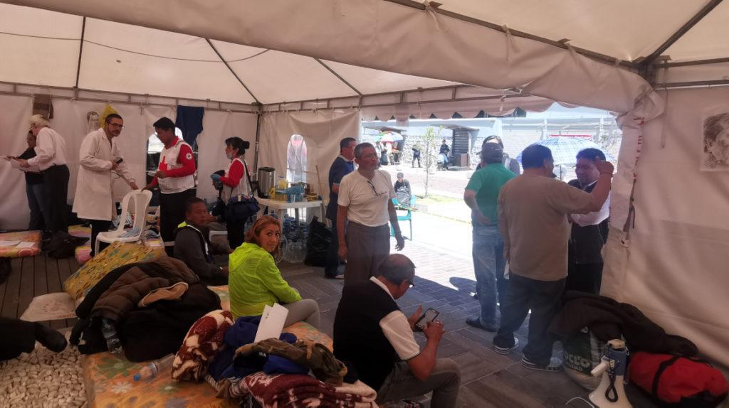 Día 7: los maestros jubilados mantienen la huelga de hambre