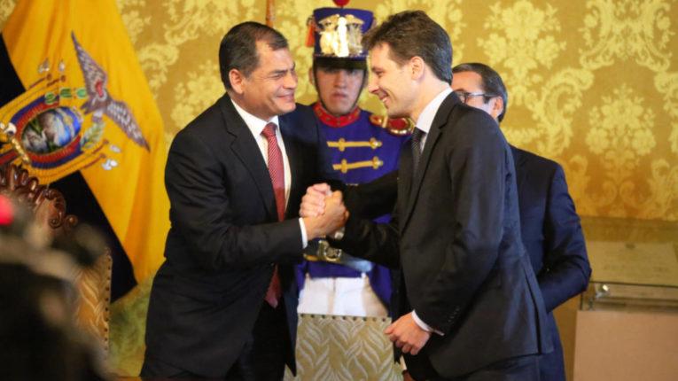 El expresidente Rafael Correa y el excanciller Guillaume Long están entre los fundadores del Instituto de Pensamiento Político.