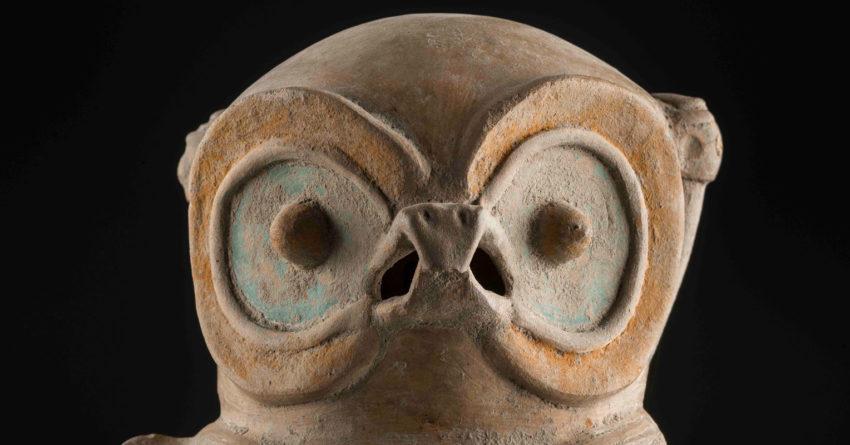 Representación de búho Cultura Chorrera (1000 -300 a.C) Cerámica