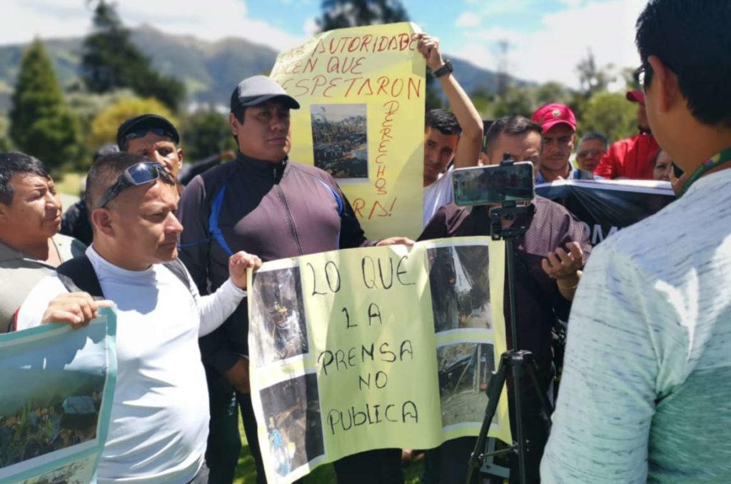 Mineros reclaman 300 hectáreas en concesión de Buenos Aires para regularizar su actividad