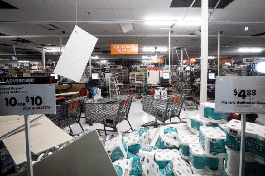 Imágenes del terremoto sentido en el sur de Californa, Estados Unidos