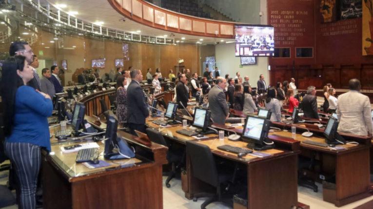 El pleno de la Asamblea durante la sesión 604 del 27 de junio.