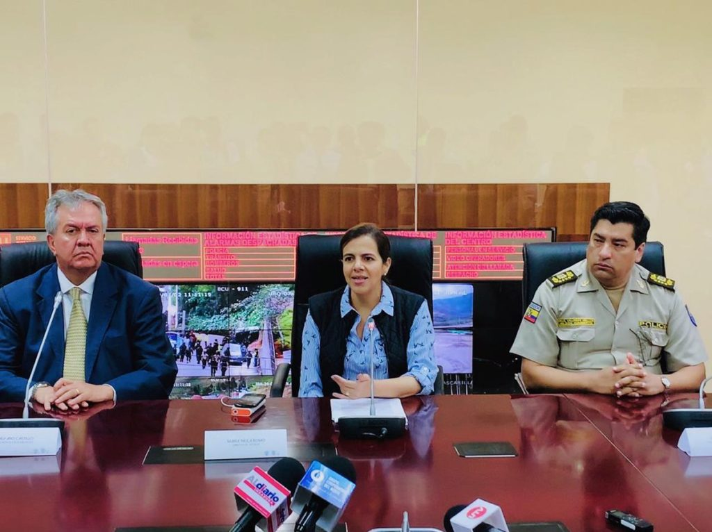 Capturados asesinos de concejal de Riobamba y de víctima en Babahoyo, dice María Paula Romo
