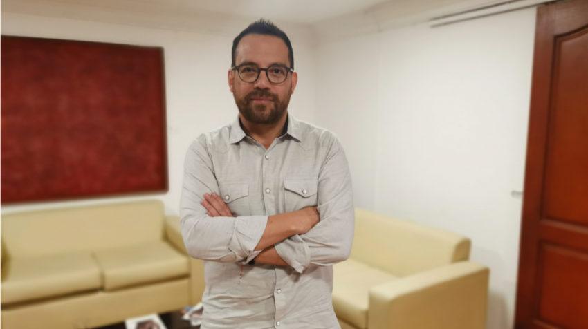 Juan Fernando Velasco, en el despacho del Ministerio de Cultura, en julio de 2019.