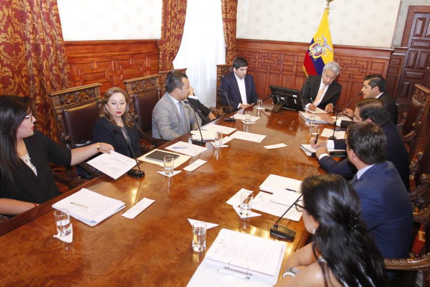 El presidente Lenín Moreno mantuvo una reunión con el gabinete económico el 27 de agosto, en Carondelet.