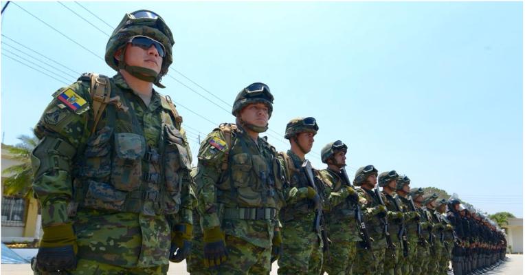 Cada año, Ecuador gasta en promedio el 2,37% del PIB en temas militares