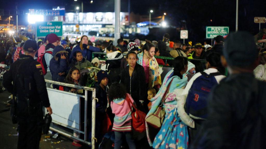 Desde el lunes, el número de venezolanos que entra a Ecuador bajó a 50 diarios