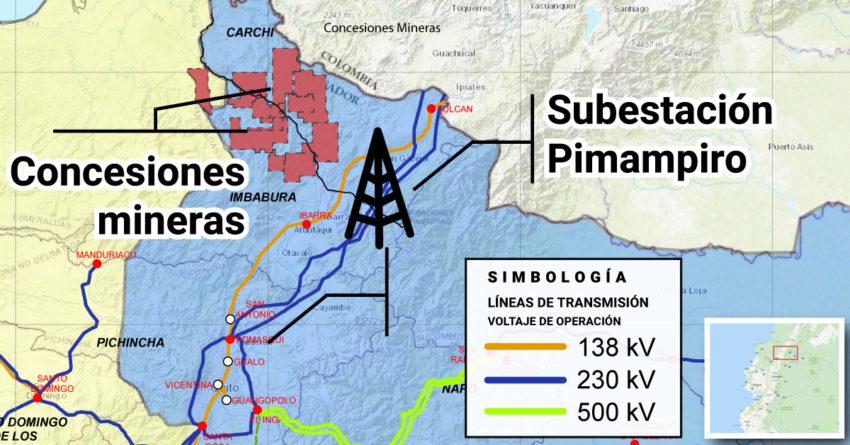 La Subestación Pimampiro permitirá que la energía eléctrica llegue a los proyectos mineros de Imbabura y Carchi