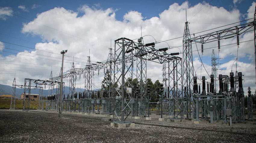 Subestación Loja de Transelectric.