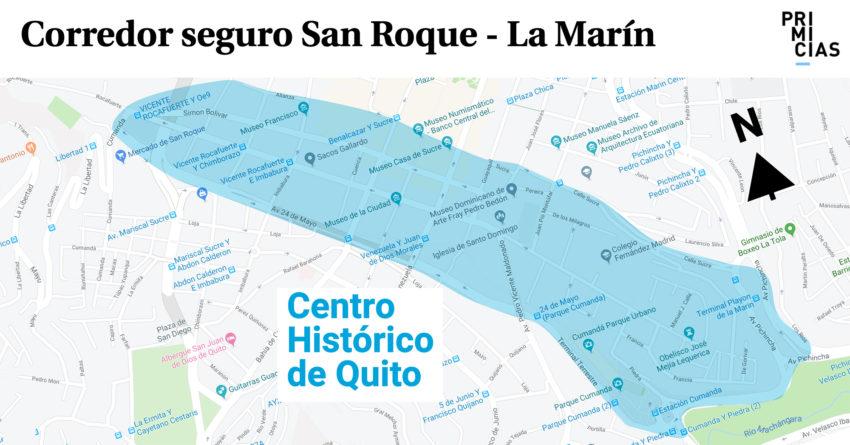 El corredor comprende el barrio San Roque hasta La Marín.