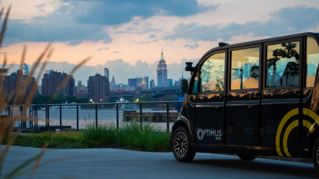 Línea de vehículos autónomos se prueba en Brooklyn