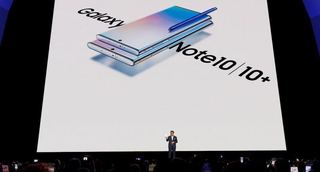 Samsung lanza dos modelos de Galaxy Note 10