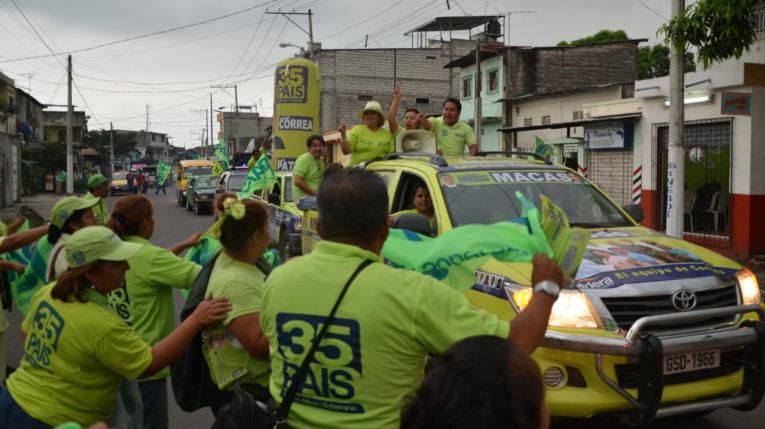 Campaña electoral de Alianza PAIS en Guayas, para los comicios de 2013.