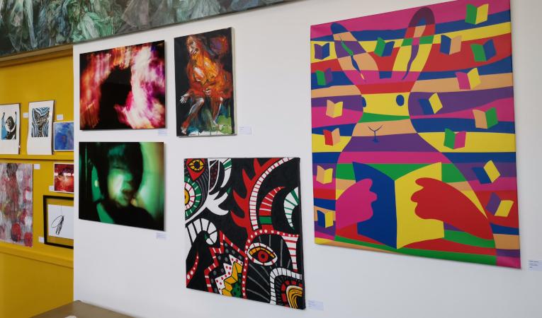 Obras de Gisela Calderón, Misah Vallejo, Luigi Stornaiolo y Carolina Vallejo