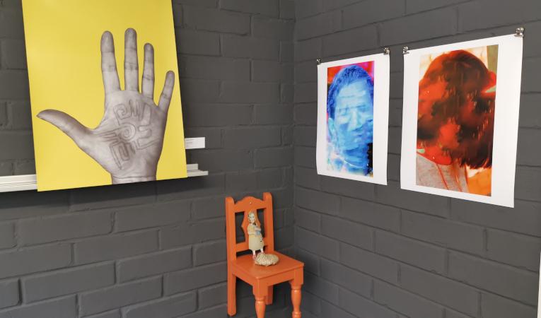 Algunas de las obras que se exponen en talleres Trabajadores del Arte.
