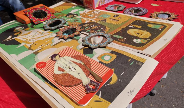 Algunos de los productos que se venden en el 'Verano Cultural de La Floresta'.