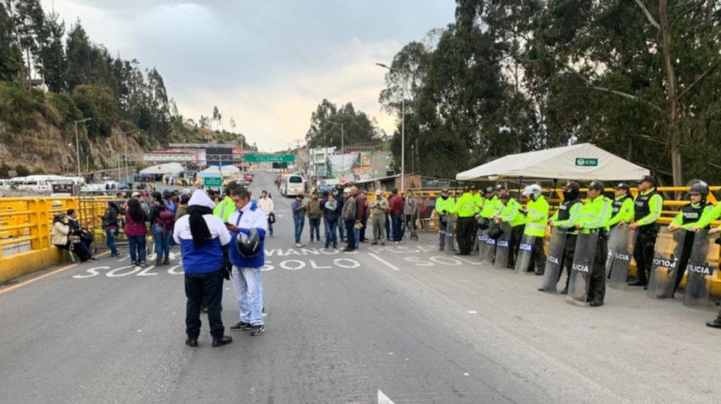 La paralización en Carchi se mantendrá indefinidamente, dicen las autoridades locales