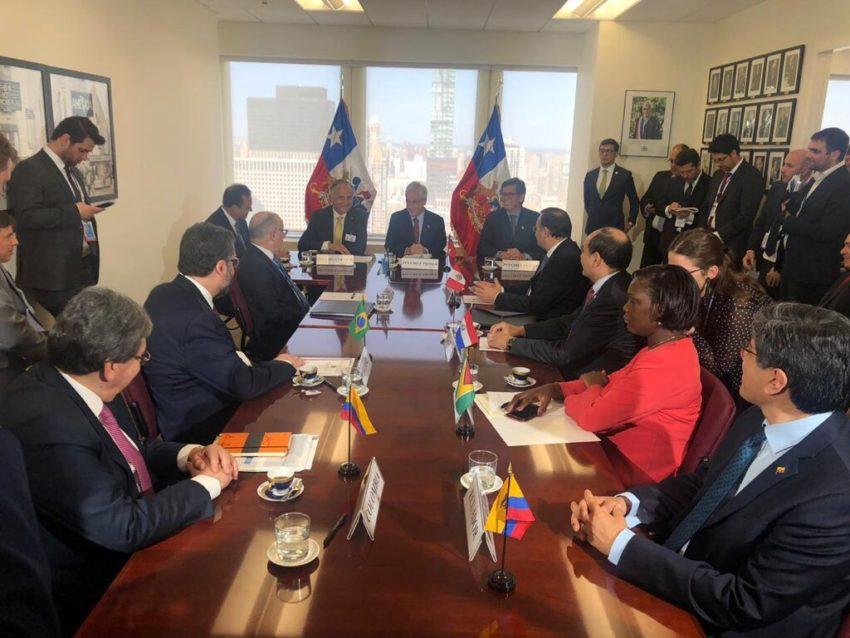 Los cancilleres de los países miembros de Prosur revisaron además  los lineamientos para el funcionamiento del Foro, el 25 de septiembre de 2019, en Nueva York.