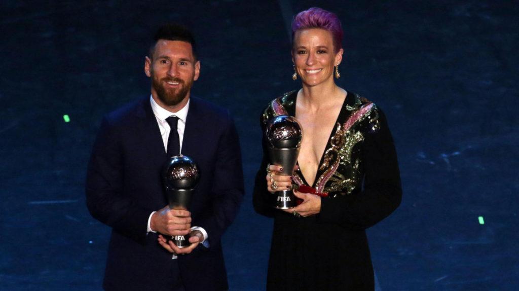 Messi y Rapinoe ganan el premio 'The Best' como mejores futbolistas del año
