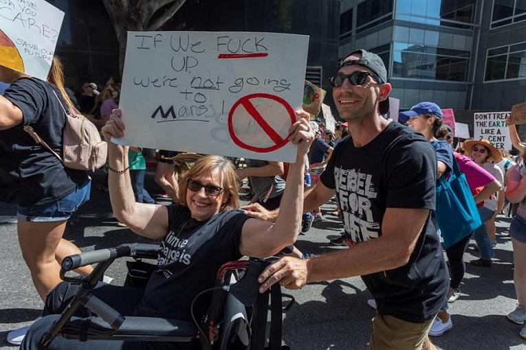 Imagen de la Huelga Mundial del Clima en Los Ángeles, Estados Unidos.