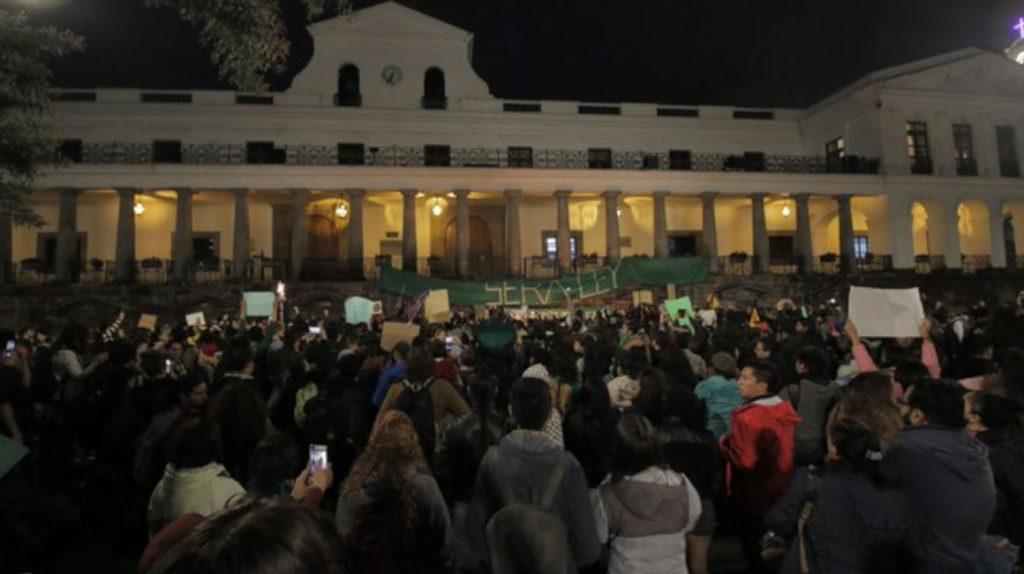 Jornada de protestas en Ecuador a favor de la despenalización del aborto por violación