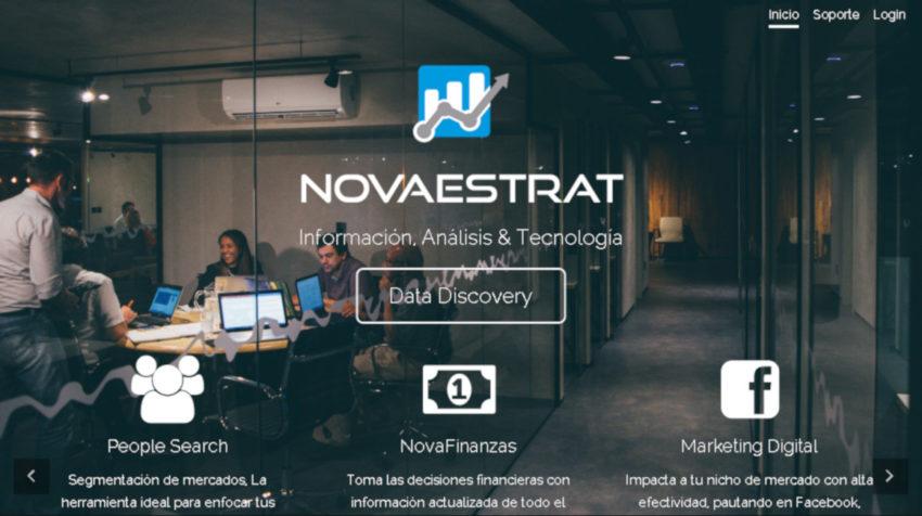 La página web de la empresa Novaestrat describía las actividades a las que se dedicaba la empresa.