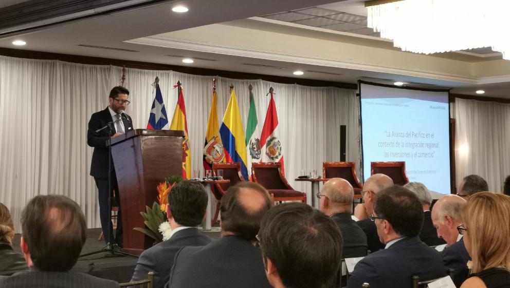 Ecuador espera cerrar dos acuerdos comerciales hasta 2020, como requisito para la Alianza del Pacífico