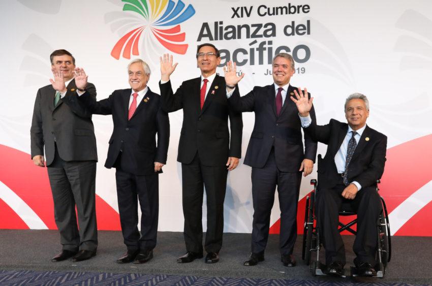 El presidente Moreno asistió a la XIV Cumbre de la Alianza del Pacífico en Lima, en julio de 2019, para solicitar la anexión de Ecuador al bloque.