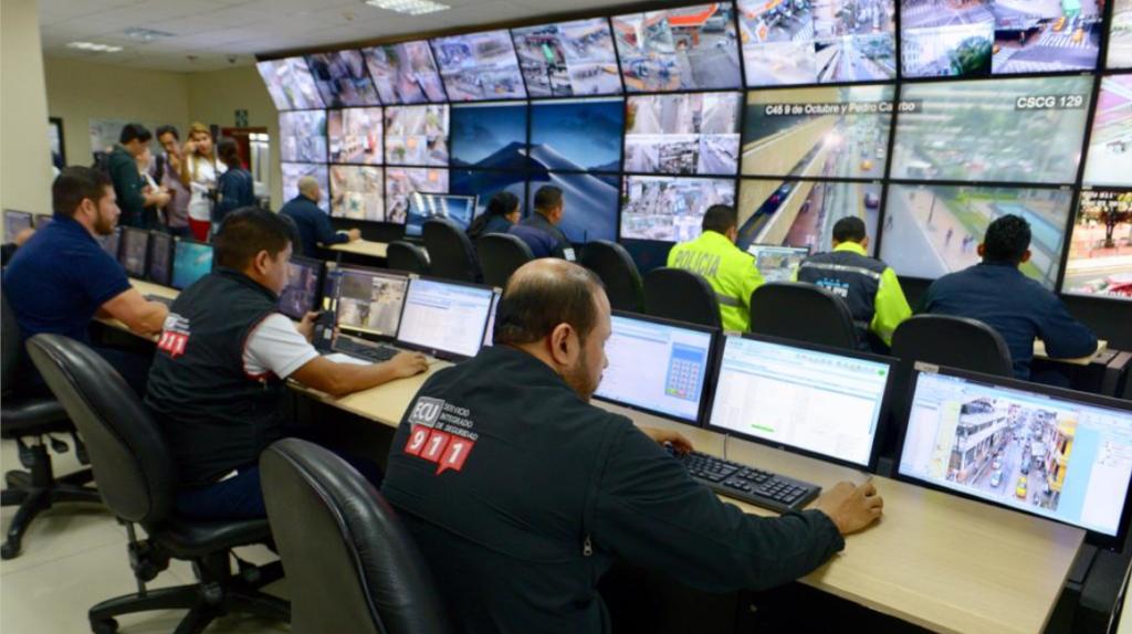 Guayaquil será vigilada por 1.712 cámaras de seguridad del ECU 911 y del Municipio