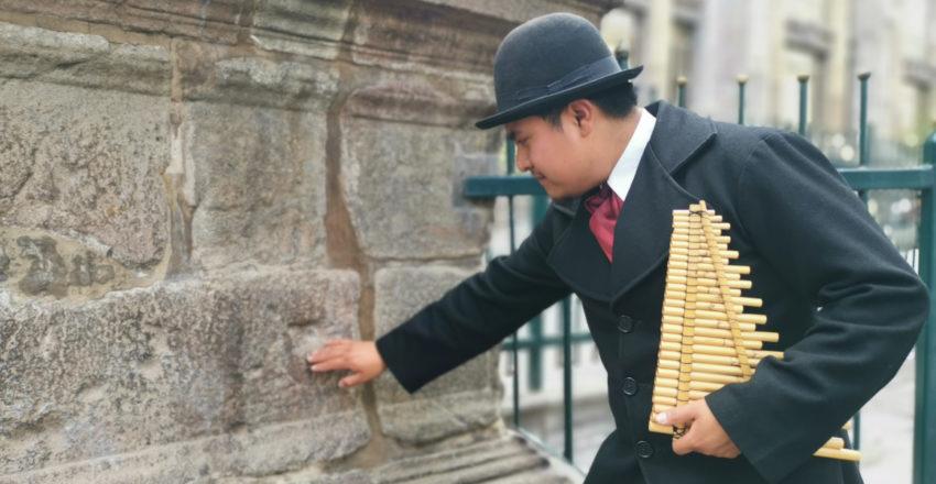 Personaje de Quito Eterno durante el recorrido teatralizado.