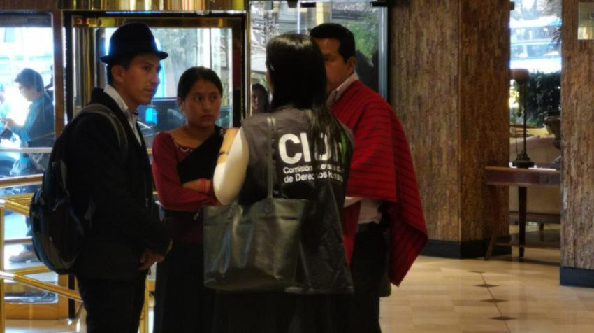 La CIDH recibió testimonios y denuncias sobre las protestas en Ecuador, el 28 de octubre de 2018.