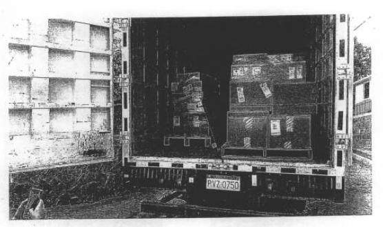 Una de las fotos incluidas en el acta levantada por la Notaría Vigésima del Cantón Quito, el 25 de febrero de 2019.