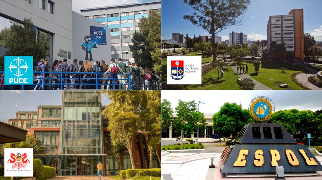 Cuatro universidades ecuatorianas, entre las 100 mejores de América Latina