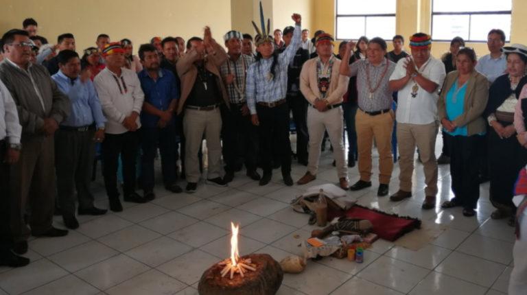 El Consejo Ampliado de la Conaie se instaló en Quito, el 23 de octubre de 2019.