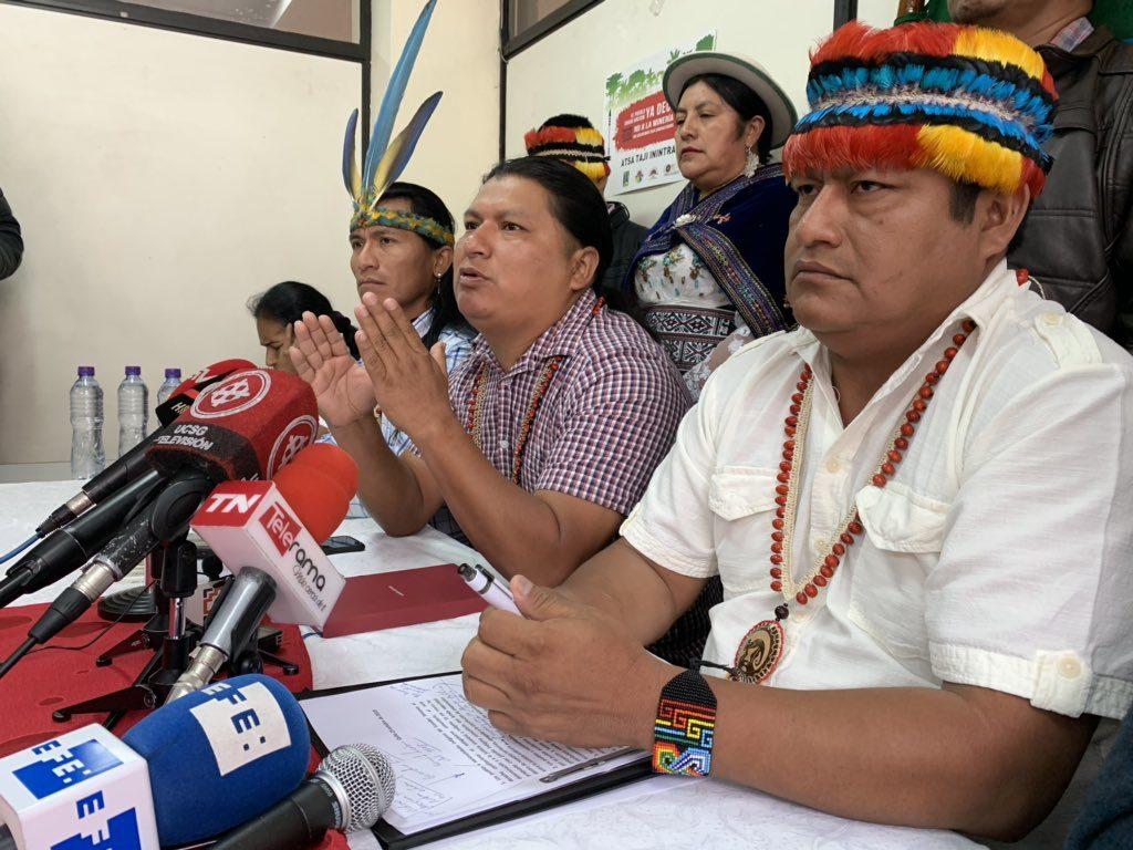 Conaie iniciará acciones legales contra el Estado por supuesta violación a los derechos humanos